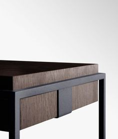 Side table / contemporary / metal / wood - CAULIS - Losserand Signature