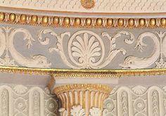 A detail of John Fowler's paint scheme for the Circular Closet, Syon House.