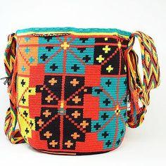 Подлинные Большие WAYUU маленькая сумка 100% колумбийский, богемный Hobo лучших ручной работы 1245