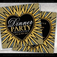 Amazing Love Energy customizable Dinner Party Invitations by webgrrl | paperstation #zazzle #loveheart