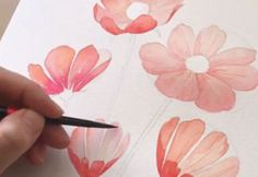 Korean Artist Uploads Step By Step Tutorials On How To Draw Beautiful Flowers Bored Panda # Georges Braque, Garden Types, Botanical Drawings, Kinds Of Salad, Drawing Skills, Korean Artist, Beautiful Flowers, Abstract, Illustration