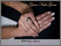 5 Tips to make your nails grow. Learn how to make them grow faster. #bellablog