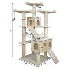Hey, I found this really awesome Etsy listing at https://www.etsy.com/listing/227257418/pet-house-vidapets-72-cat-tree-condo