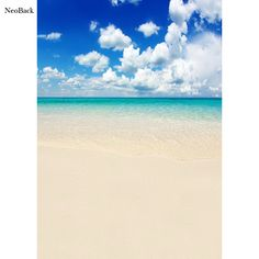 NeoBack 5x7ft Poly Vinyl Summer Sea Beach View Photo Backgrounds Photo Studio Indoor Computer Printed Children Backdrops P2287 #Affiliate