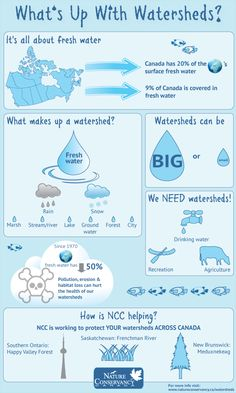 Nature Conservancy ... Watersheds infographic.... Clean water & conservation should be everyone's passion!