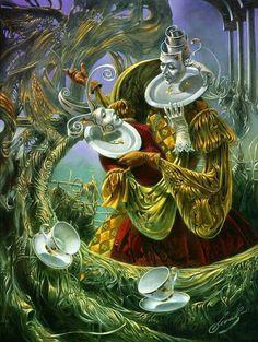 * Michael Cheval - - - Porcelain Waltz