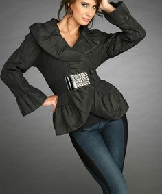 This Black Belted Jacket- Women & Plus is perfect! #zulilyfinds
