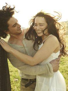 Emilia Clarke and Kit Harrington