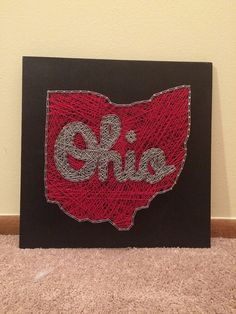 MADE TO ORDER Script Ohio String Art, Ohio State Buckeyes String Art, Buckeye…