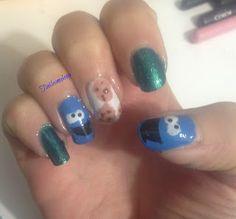 Tinklesmakeup: Cookie monster nail art cookie monster has eaten all my cookies! #bbloggers #nailsblogger #notd #cookiemonster #funnails #cutenails #nailart #nailartjunkie #nailartlover #nailartaddict #nailswag #naillovers #ilovenailart