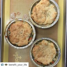 WOW!!! Yum!!! #Repost @benefit_your_life  Homemade hot and bubbly out of the oven! #glutenfree chicken pot pies for lunch! #byl #ilovelocalknoxville #knoxvilletn #knoxville