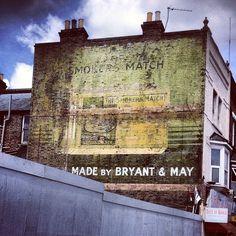 Bryant Matches Advertising Underground Map, Match Boxes, Croydon, South London, Surrey, Childhood Memories, Vintage World Maps, Advertising, British
