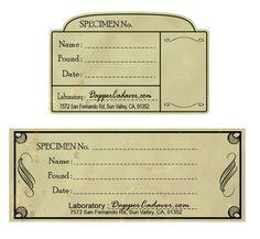Specimen Labels