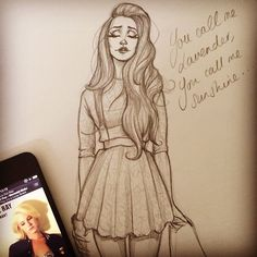 Don't care much for Lana, but her hair in this drawing is fantastic