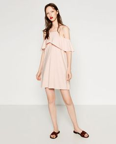Image 1 of CUT-OUT DRESS WITH FRILLS from Zara
