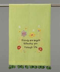 Another great find on #zulily! 'Friends Are Angels' Dish Towel - Set of Two #zulilyfinds