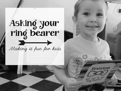 Asking Your Ring Bearer to be in your Wedding - Making Weddings fun for the kids participating. Gifts For Wedding Party, Our Wedding, Dream Wedding, Wedding Stuff, Wedding Ideas, Wedding Decor, Asking Ring Bearer, Marrying My Best Friend, Groom And Groomsmen
