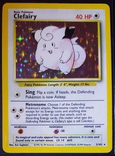 Pokemon Card Holo Clefairy 5/102 NM Base Set ID3270
