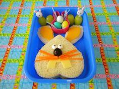 Easter bento Lunch: Bunny Face. #Bento www.facebook.com/BentoSchoolLunches