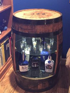 Check out this item in my Etsy shop https://www.etsy.com/listing/262426082/bourbon-barrel-display-cabinet-with