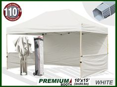 Premium 10x15 Pop Up Tent Craft Display Trade Show Canopy Portable Booth Market Stall(Select Color)