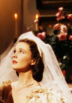 Scarlett O'Hara after her wedding to Charles Hamilton. She is still in love