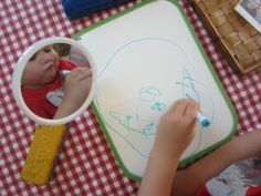 reggio activities self portraits drawing teeth What do you see when you look in the mirror?