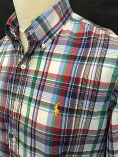 £35 #RalphLauren #Mens #Shirt Medium Custom Fit #Checked #menswear #mensfashion #mensstyle #macmenswear