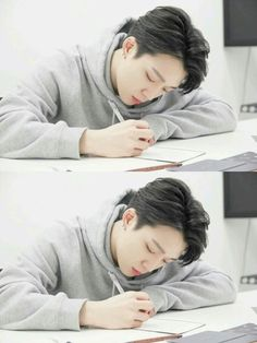 imagine he focuses and studies in front of you like this