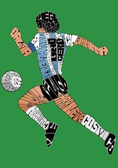 Buenos Aires based digital artist Paula Hansen has produced this. Football Images, Football Posters, Diego Armando, Serge Gainsbourg, Sports Marketing, Sports Graphics, Classic Image, Sport Icon, World Football