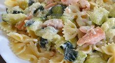 Pâtes saumon courgettes et boursin Cook Expert