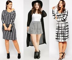 a944d128f02 Shapely Chic Sheri - Trend to Try - Black   White (Plus Size Option)
