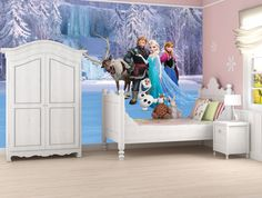Buy Frozen: Full Wall Mural Large Wall Mural, Stickers, Merchandise Online Now at the Australian based Sanity Movie Store. Bedroom Themes, Girls Bedroom, Bedroom Decor, Design Bedroom, Bedrooms, Top 10 Christmas Gifts, Wall Murals, Toddler Bed, Frozen