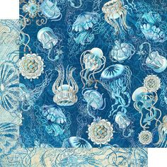 8 Sheets Graphic 45 Ocean Blue 12x12 Paper Collection 8 | Etsy Graphic 45, Mixed Media Scrapbooking, Blue Beach, Cozumel, Kauai, Beautiful Patterns, Paper Design, Pattern Paper, Scrapbook Paper