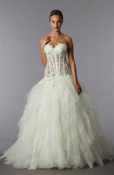Pnina Tornai - Sweetheart Ball Gown in Tulle Bridal Gown Styles 47f22d4a6b7f