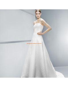 Schlichte trägerlose A-linie Brautkleider Vestidos de novia - Jesús Peiró