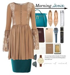 """Morning Service"" by kateremington-1 ❤ liked on Polyvore featuring Karen Walker, LE3NO, Ray-Ban, Coco's Fortune, Gianvito Rossi, GHD, Barneys New York, Kate Spade and Jessica Carlyle"