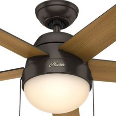 Hunter Donegan Onyx Bengal Casual Indoor Ceiling Fan W 5 Blades Traditional Ceiling Fans