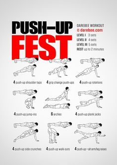Push-Up Fest Workout | Posted By: CustomWeightLossProgram.com