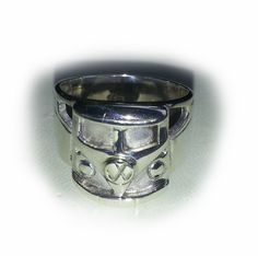 VW Micro Bus front end grill ring in solid sterling silver. Hand made design in Australia.