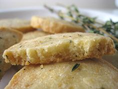 Parmesan Thyme Crackers...I would want them a bit thinner and my hubby would want some garlic.