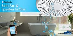 Homewerks Worldwide has introduced a Bluetooth™-enabled bath fan that streams music wirelessly in home bathrooms. The Bluetooth Bath Fan is an affordable option to upgrade and customize a bathroom. Bathroom Renos, Small Bathroom, Master Bathroom, Upstairs Bathrooms, Dream Bathrooms, Bluetooth, Bath Remodel, Home Hacks, Bathroom Inspiration
