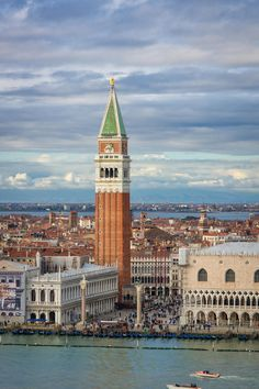 St. Mark's as seen from San Georgio bell tower, Venice, Italy