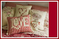 valentines pillows - or any time of year