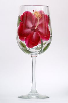 Pink and Cream Tulips Tumbler – Wineflowers