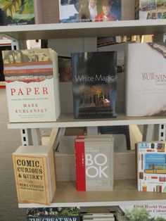 The Book by Keith Houston and Paper by Mark Kurlansky in Foyles, Charing Cross