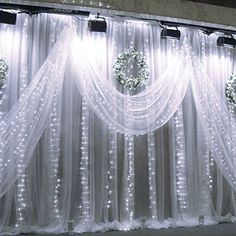 AmazonSmile: LE® 3m*3m 304 LED Curtain Lights, Window Curtain Icicle Lights, 8 Modes, 9.8 x 9.8ft Linkable Design, Daylight White, 6000K, Window Lights, String Fairy Light for Christmas/Wedding/Party Decorations: Home Improvement