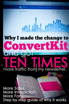 Switching to ConvertKit increased my newsletter #'s TEN TIMES on my blog. It's totally doable for you to build a better blog newsletter , and here's why!