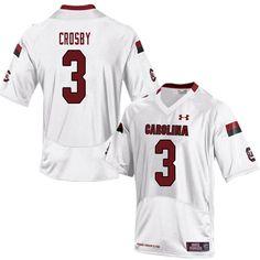 4f1cd2687ce Men #3 K.C. Crosby South Carolina Gamecocks College Football Jerseys Sale-White  Melvin Ingram