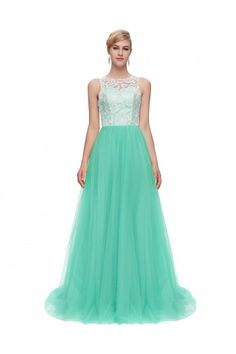 Grace Karin Sleeveless Lace & Tulle Ball Gown Evening Prom Party Dress